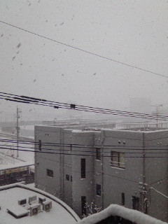 飯塚市は雪で